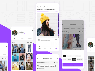 The Yes - iOS App Design ios app ecommerce ai fashion interaction ui design