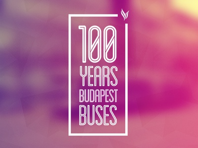100 years budapest buses transport poster design budapest buses 100 graphic design typography