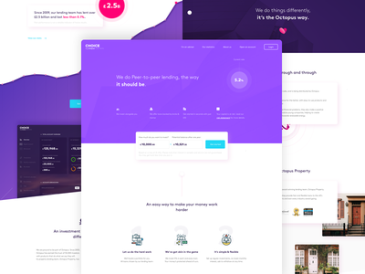 Choice by Octopus Investment - Homepage finance investment web design page landing ui ux