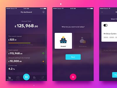 Choice iOS app user experience user interface tech web ui ux finance investment design app ios