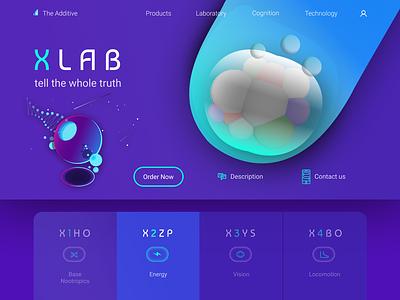 XLab desigh website illustrator photoshop figma