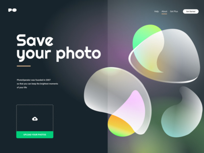 PhotoSaver landign page web  design desigh website illustrator photoshop figma