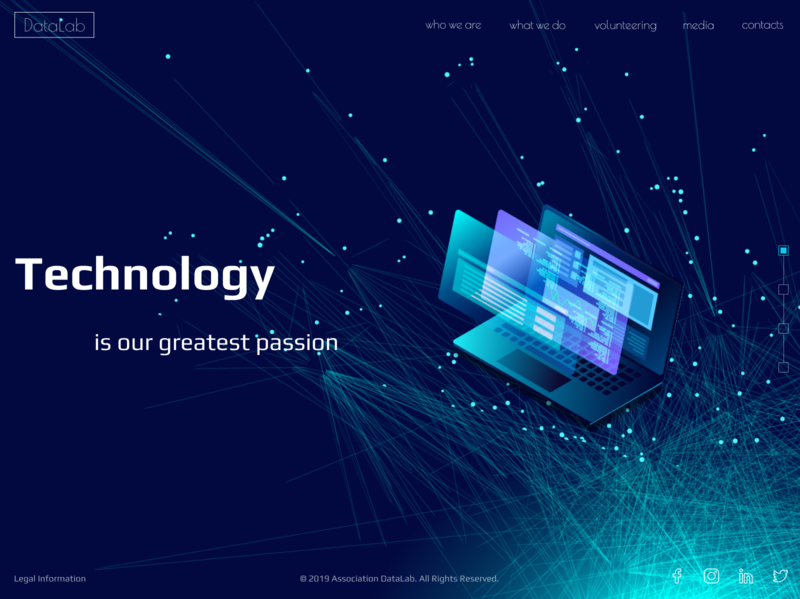 DataLab web site design webdesign landign page vector web  design desigh website photoshop illustrator figma