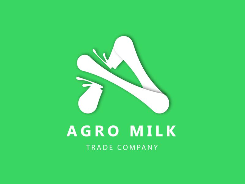 AgroMilk Logo icon illustration logo vector web  design desigh website photoshop illustrator figma