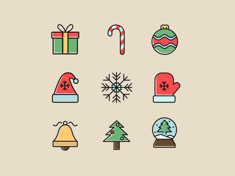 Winter icon pack christmas new year figma branding logo illustration design vector web  design desigh website illustrator icon