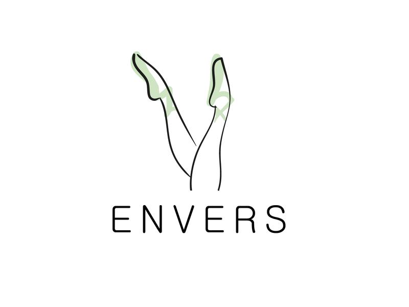 Envers studio logo branding desigh vector web  design webdesign illustrator illustration logo figma