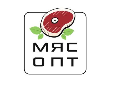 Meat Logo branding typography landign page vector website desigh illustrator web  design logo figma