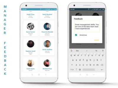 Manager feedback Mobile app
