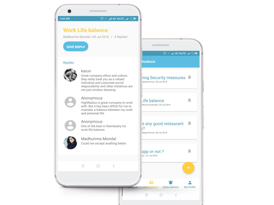 Chat groups app by Madhurima Mondal on Dribbble