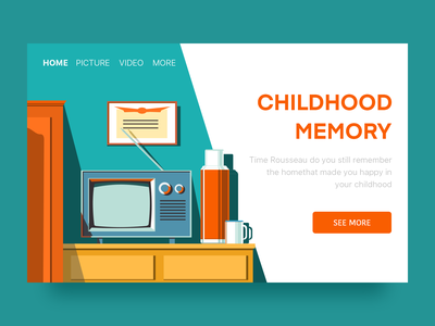 Childhood Memory television childhood illustration