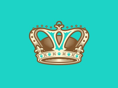 Crown symbol logo illustration victorian crown miller creative chocolate chocolatier pastry