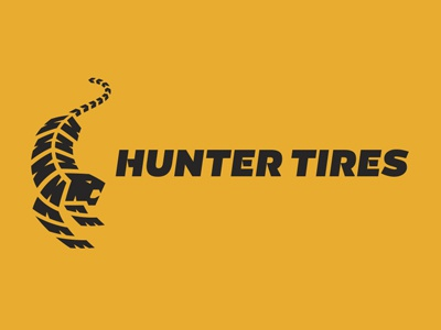 Tire Logo tiger tire tread logo