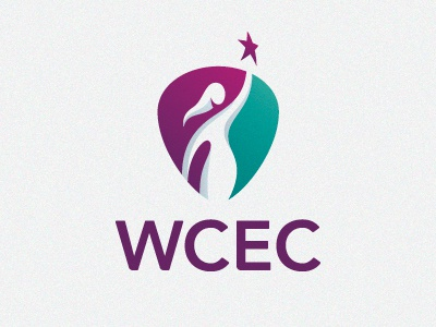 WCEC logo woman star shield success achievement