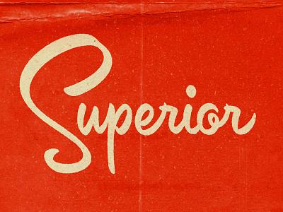 Superior mid-century brush script script lettering