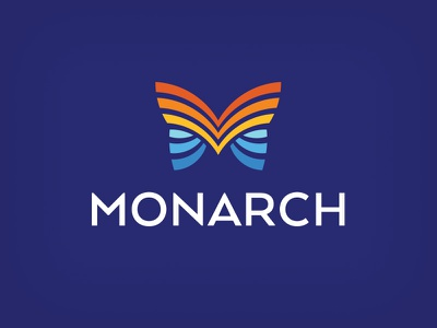Monarch symbol hvac cooling air heating monarch m butterfly logo