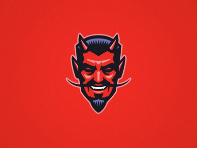 Handsome Devil illustration logo devil