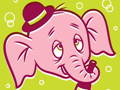 Pink Elephant illustration cartoon drunk beer pink elephant elephant