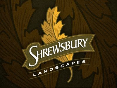 Shrewsbury 2 leaf landscaper landscaping logo devey jeffrey devey jeff devey