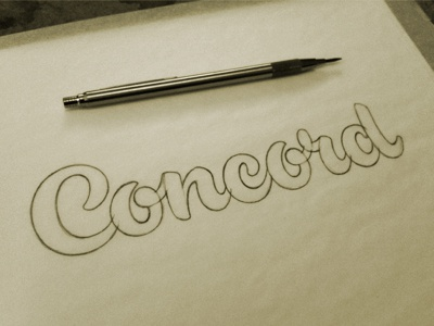 Concord Sketch jeffrey devey lettering script typography type sketch pencil process devey jeff devey