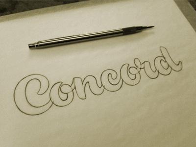 Concord Sketch jeffrey devey lettering script typography type sketch pencil process devey jeff devey