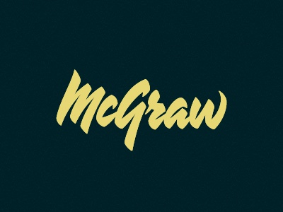McGraw Lettering script lettering type typography devey jeffrey devey jeff devey