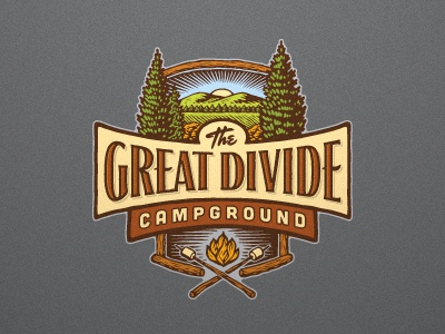 The Great Divide logo illustration illustrative logo woodcut devey jeff devey jeffrey devey