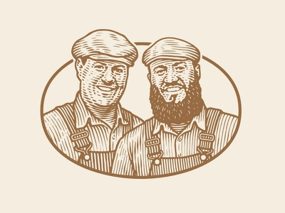 Engraved Style Portraits illustration portrait woodcut engraved