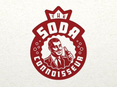 Soda Connoisseur logo illustration illustrative logo man connoisseur gentleman soda bottle bottlecap cap bubbles crown devey jeffrey devey jeff devey emblem