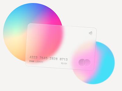 Glass Card Design | Rebound tutorial card bank glass effect branding design ui