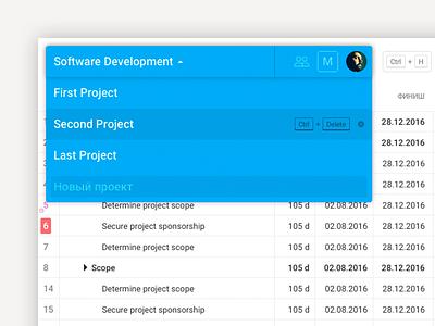 GyGantt select the project tracker planner schedule task gantt ux ui