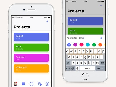 Whipcake project manager task ios interface ux ui