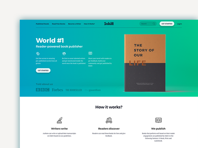 Inkitt Redesign inkitt berlin germany webdesign ux book landing  page landing web design ui