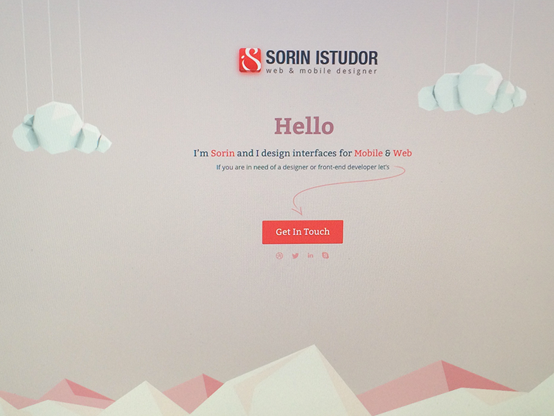 My landing page - with clouds 3d clouds landing page landing web page ui ux design personal