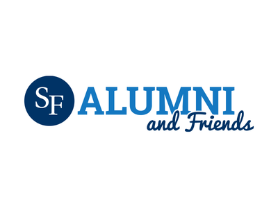 Santa Fe College Alumni and Friends santa fe sf santa fe college blue white alumni friends logo
