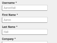 CSS3 Sign Up Form