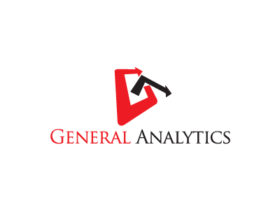 General Analytics logo red black