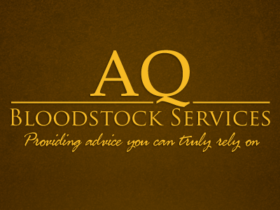 AQ Bloodstock logo yellow brown noise