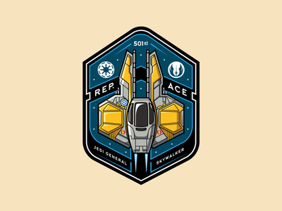 Anakin's Jedi Starfighter contest design starfighter logoinspirations badge starwars