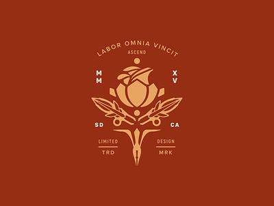 Ascend Rose rose apparel design badge