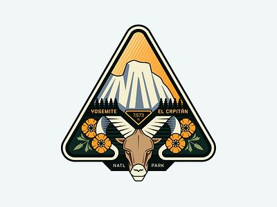 Yosemite's El Capitán yosemite illustration nature outdoors design badge logoinspirations