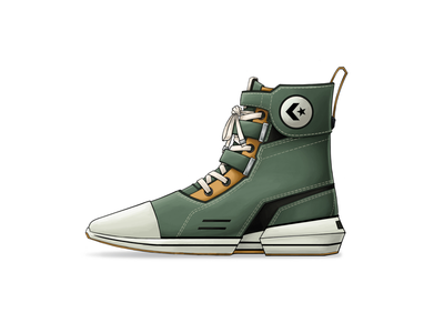 Converse Echelon Green Concepts product design concept illustration design sneakers shoes green military converse