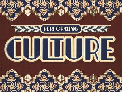 Performing Culture Headline artdeco font art-deco culture pattern typefaces headline typography decorative art artdeco typeface font