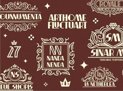 Decorative Logo Collections ornaments font family typeface artdeco-font artdeco decorative typography font logo