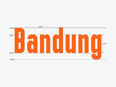 Bandung Text in Basic Typeface ligature monochrome sans serif font geometrical typedesign condensed font type fonts basic orange typography font anatomy
