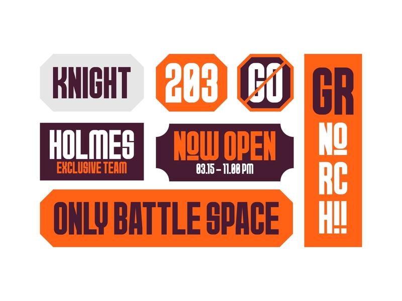 Signage Design logo mark typography typeface signpainting signage road sign street orange norch logo font family font branding design