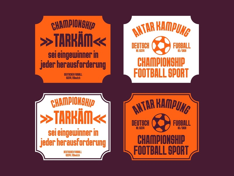 Football Village Badge football logos badges typeface handlettering font design font typography