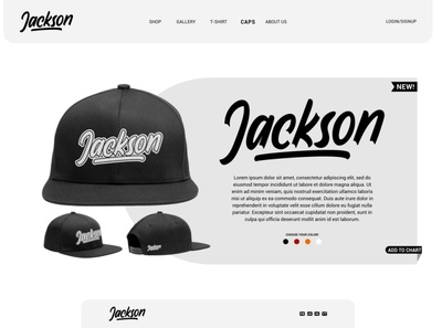 Jackson Sample Web Store - Wardness Font