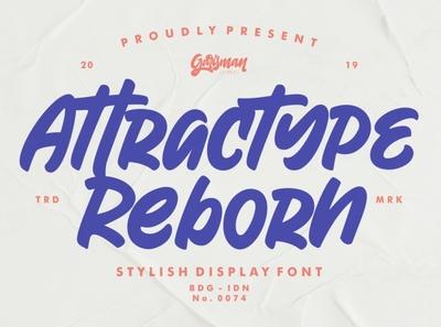 Attractype Reborn - Display Font