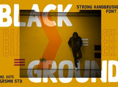 Black Ground || Strong Handbrushed Font font family logo font design fonts typography font awesome branding handlettering free fonts font