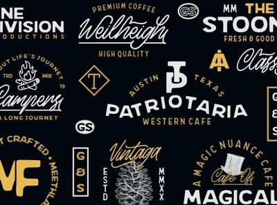 Vintage Logo Collections || Meethlake Font font design custom type badge logo typography font awesome branding handlettering free fonts font